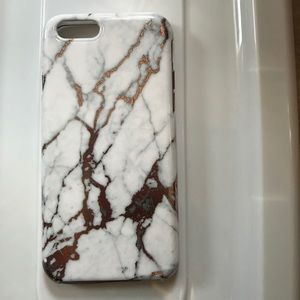 Nanete Lepore White Marble Rose Gold iPhone 6 case